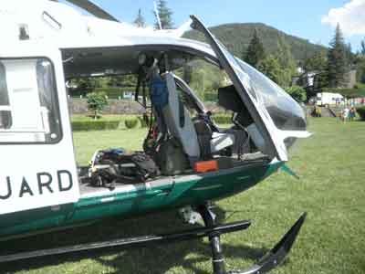 Helicóptero por dentro