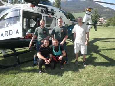 Foto de los rescatadores