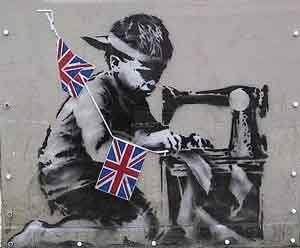 Niño Esclavo graffiti de Banksy