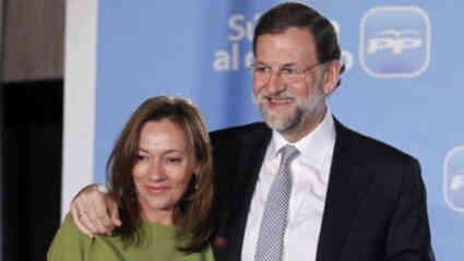 Rajoy junto a su mujer, Elvira Fernández Balboa