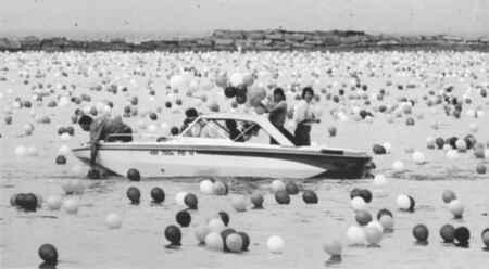 """""""Poco después del lanzamiento de Balloonfest '86, miles de globos comenzaron a caer en el lago Erie y alrededor de la ciudad de Cleveland."""""""
