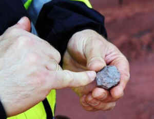 Mineral de hierro que se extrae de esta mina zaragozana