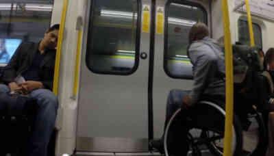 Carrera de un discapacitado contra el metro de Londres