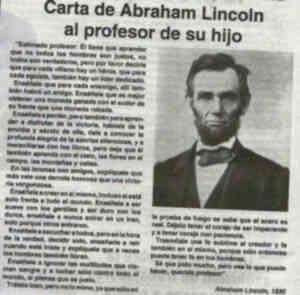 carta de Abraham Lincoln